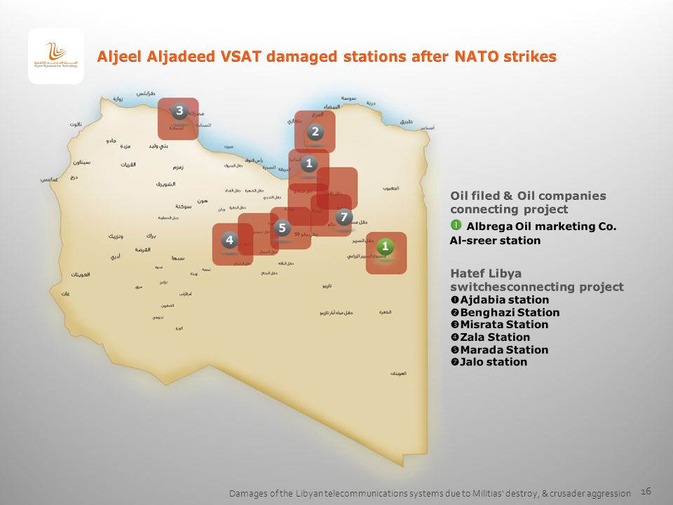 Aljeel Aljadeed VSAT damaged stations after NATO strikes