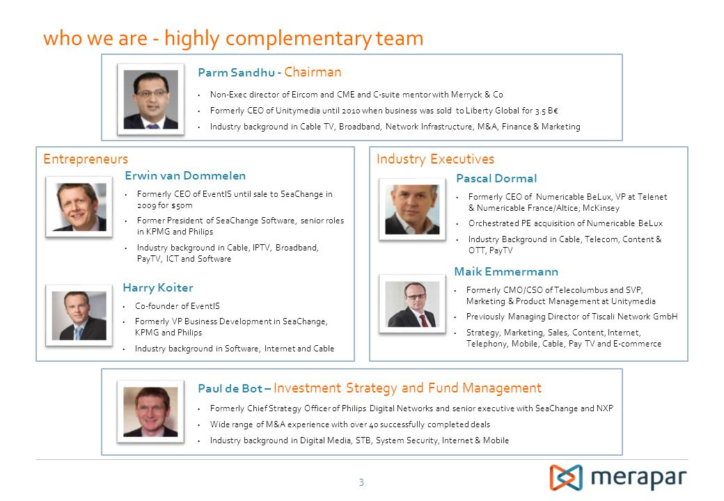 who we are - highly complementary team
