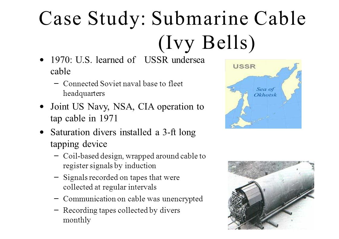 Case Study: Submarine Cable (Ivy Bells)