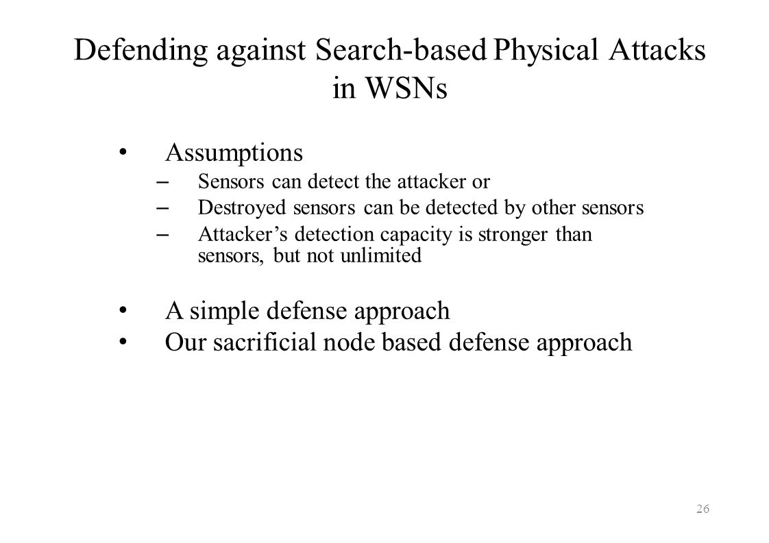 Defending against Search-based Physical Attacks in WSNs
