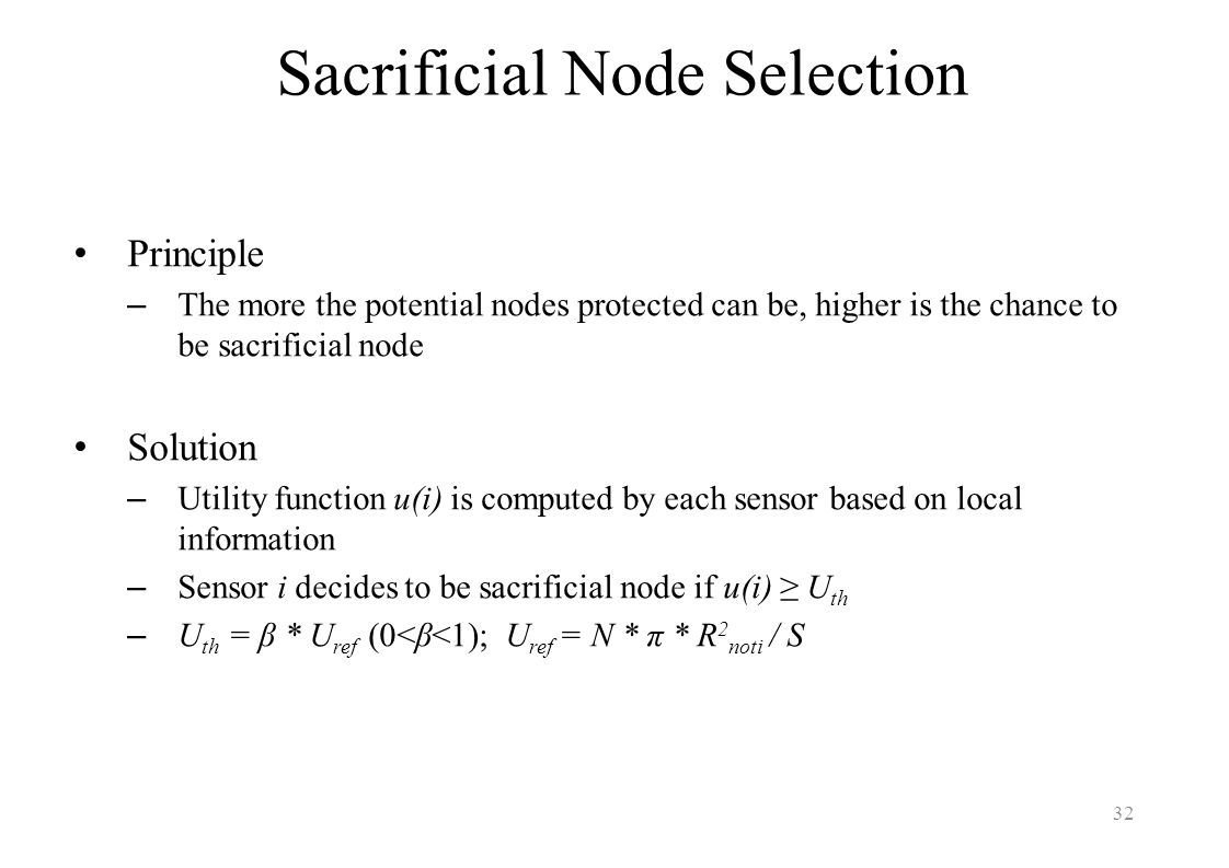Sacrificial Node Selection