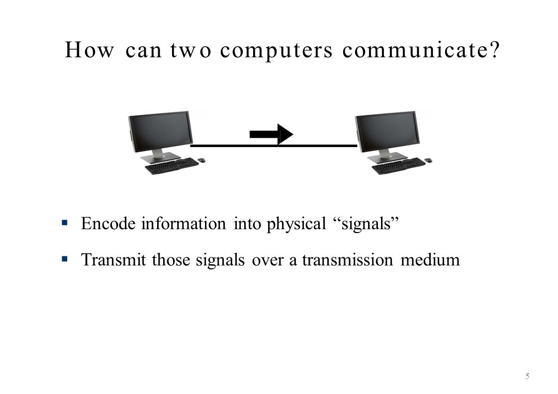How can two computers communicate