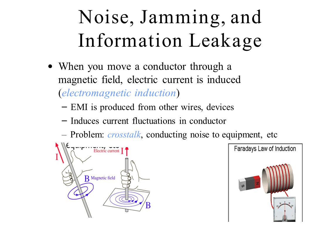 Noise, Jamming, and Information Leakage