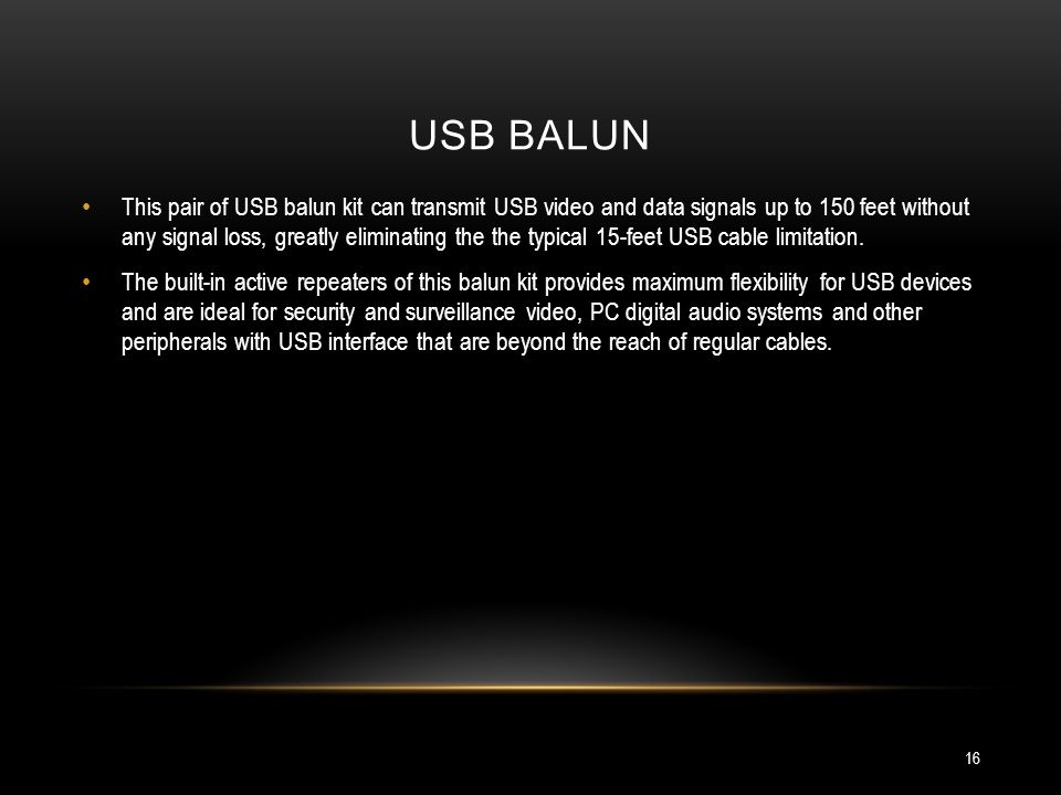 USB balun