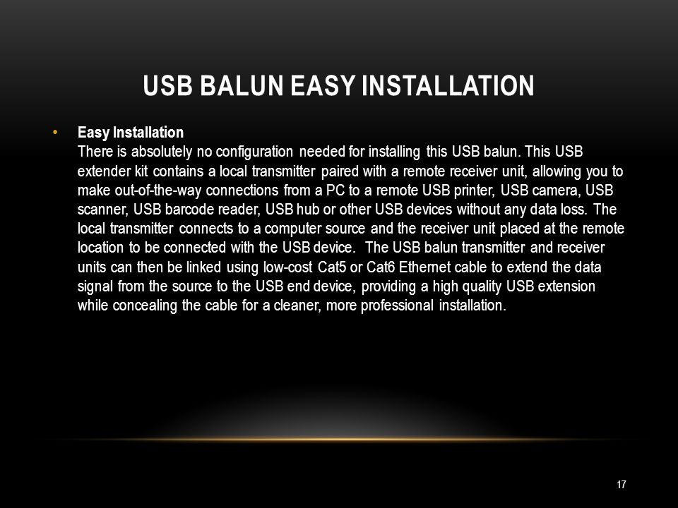 USB BALUN EASY Installation