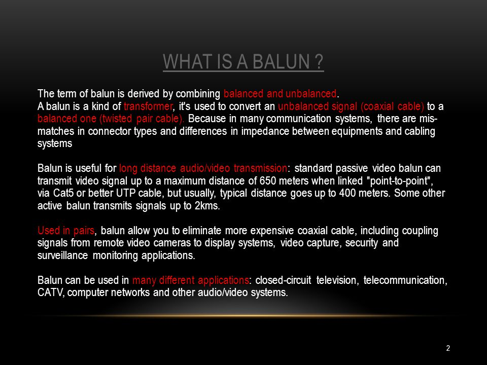 What is a balun