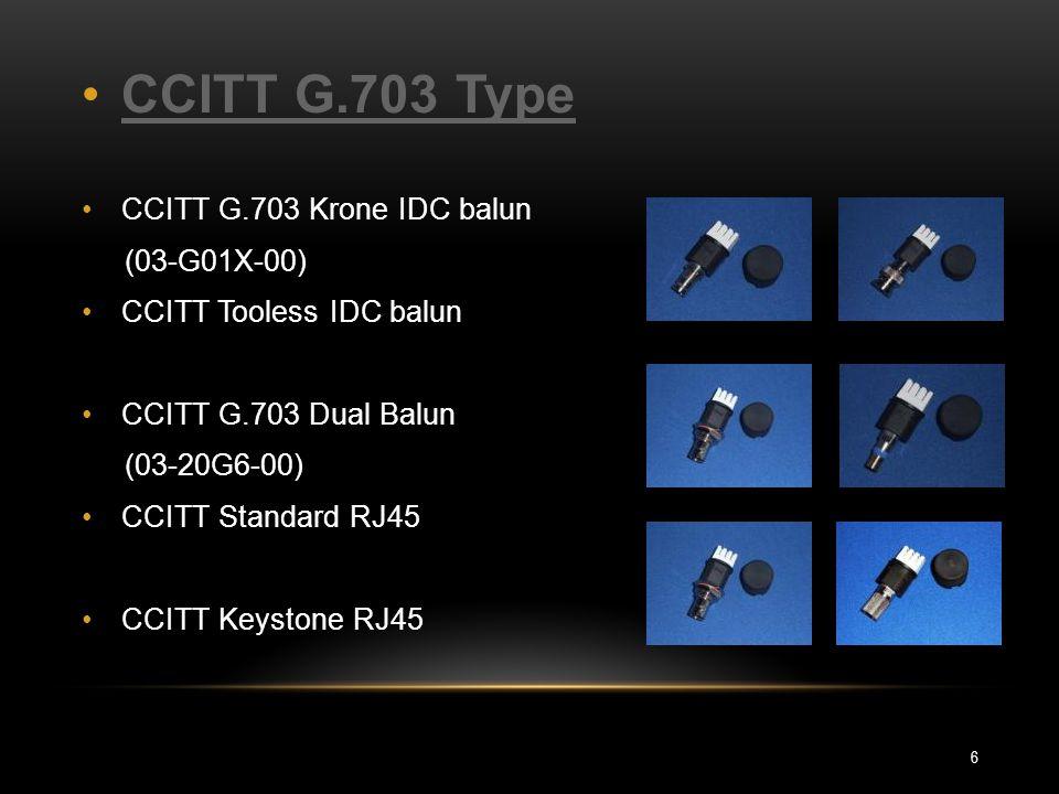 CCITT G.703 Type CCITT G.703 Krone IDC balun (03-G01X-00)