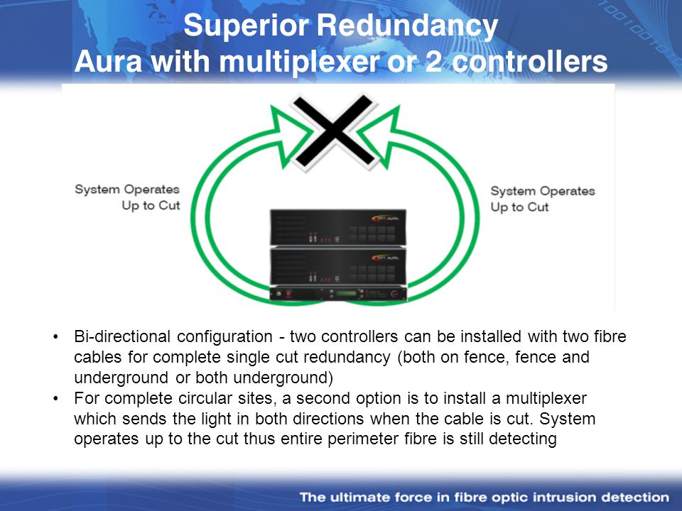 Superior Redundancy Aura with multiplexer or 2 controllers