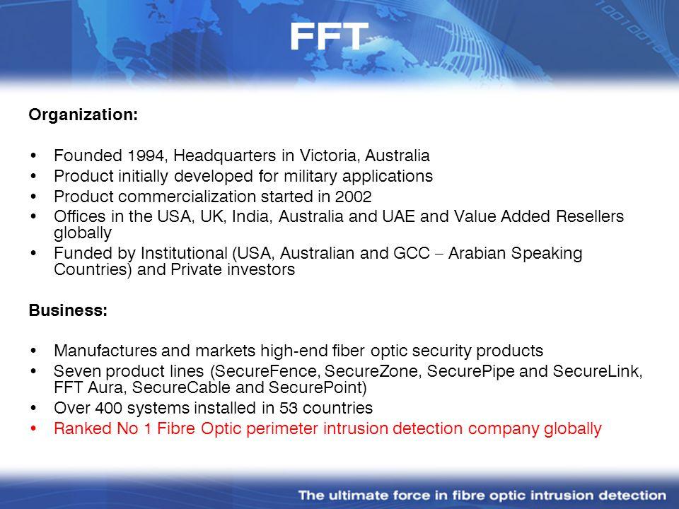 FFT Organization: Founded 1994, Headquarters in Victoria, Australia