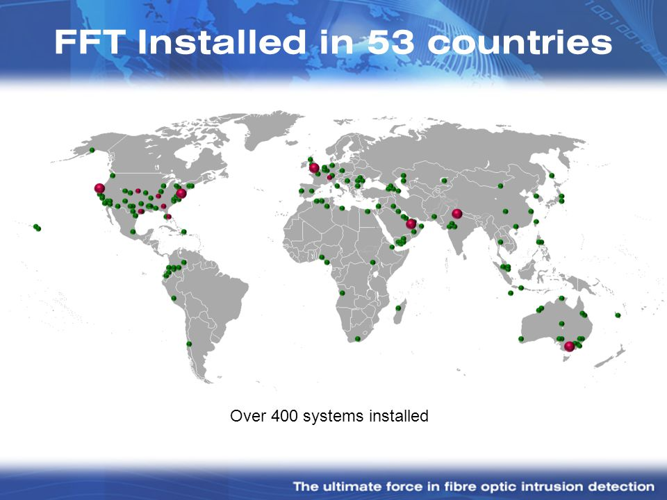 FFT Installed in 53 countries
