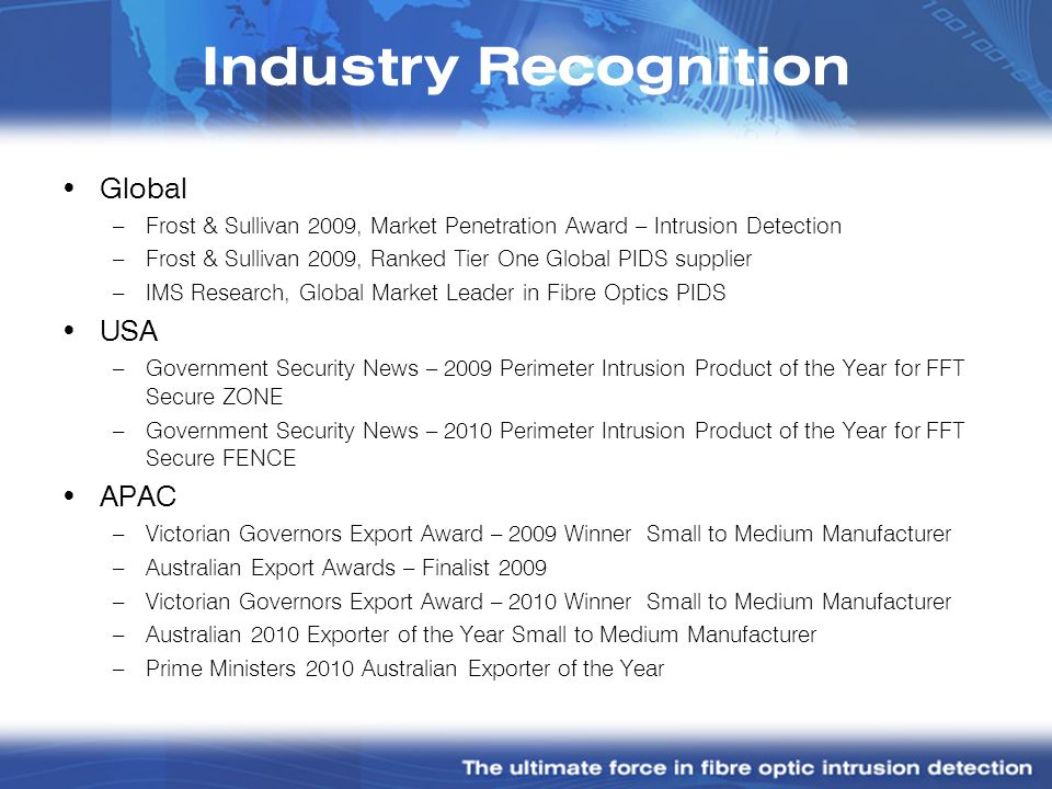 Industry Recognition Global USA APAC