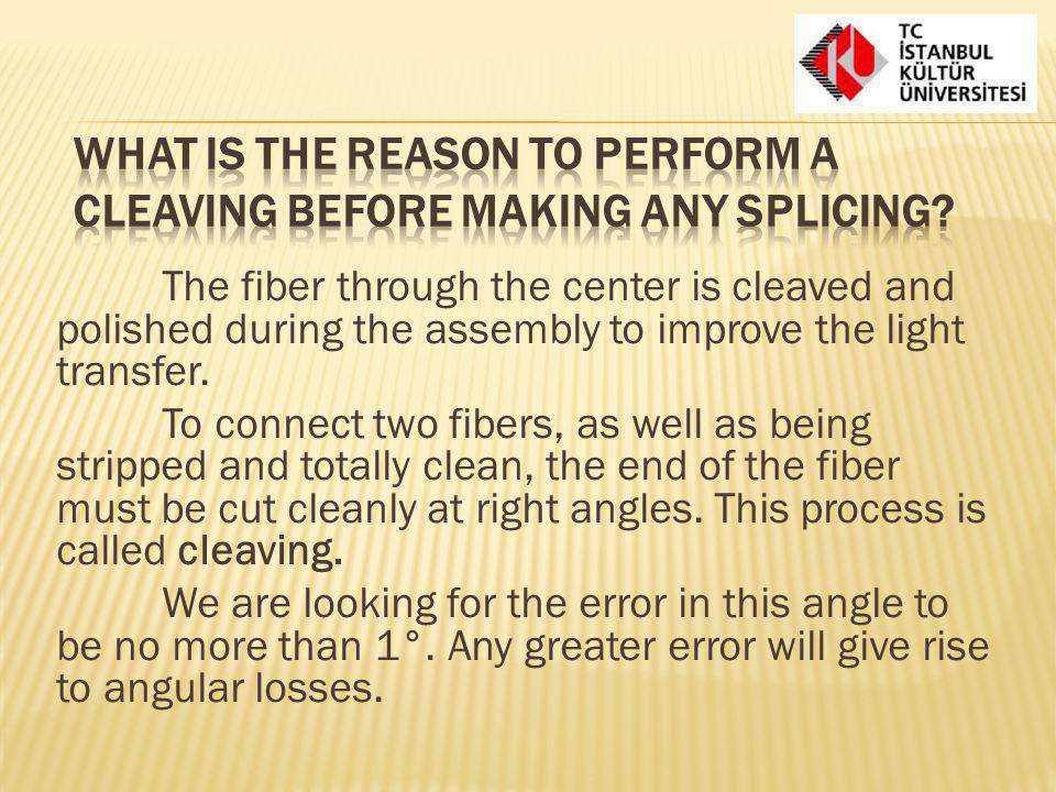 What is the reason to perform a cleaving before making any splicing