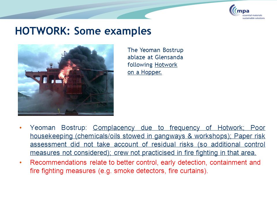 HOTWORK: Some examples
