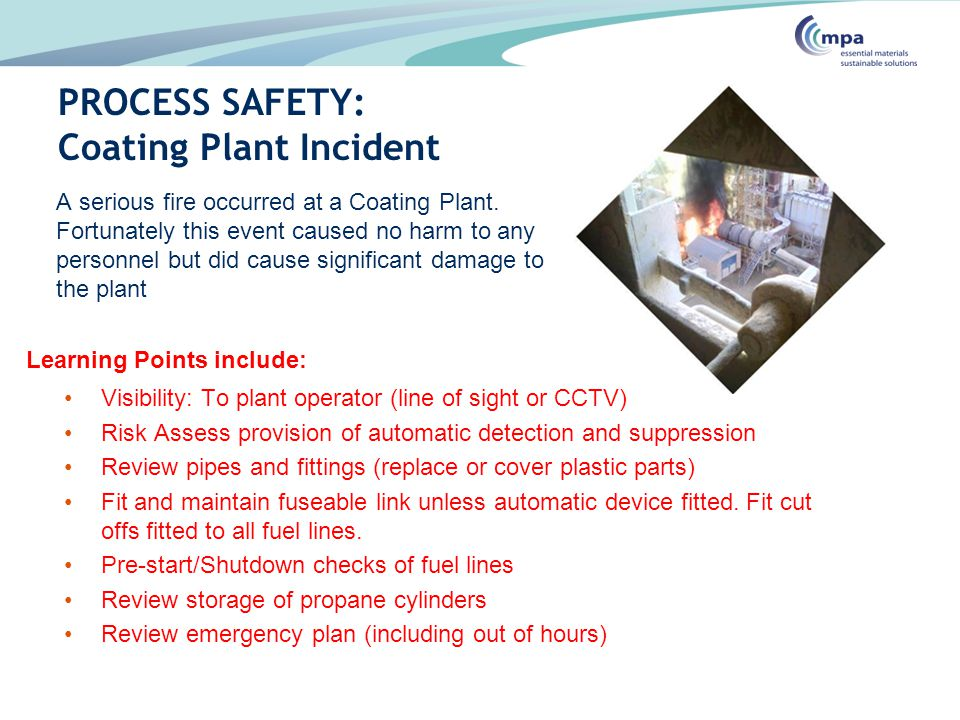 PROCESS SAFETY: Coating Plant Incident