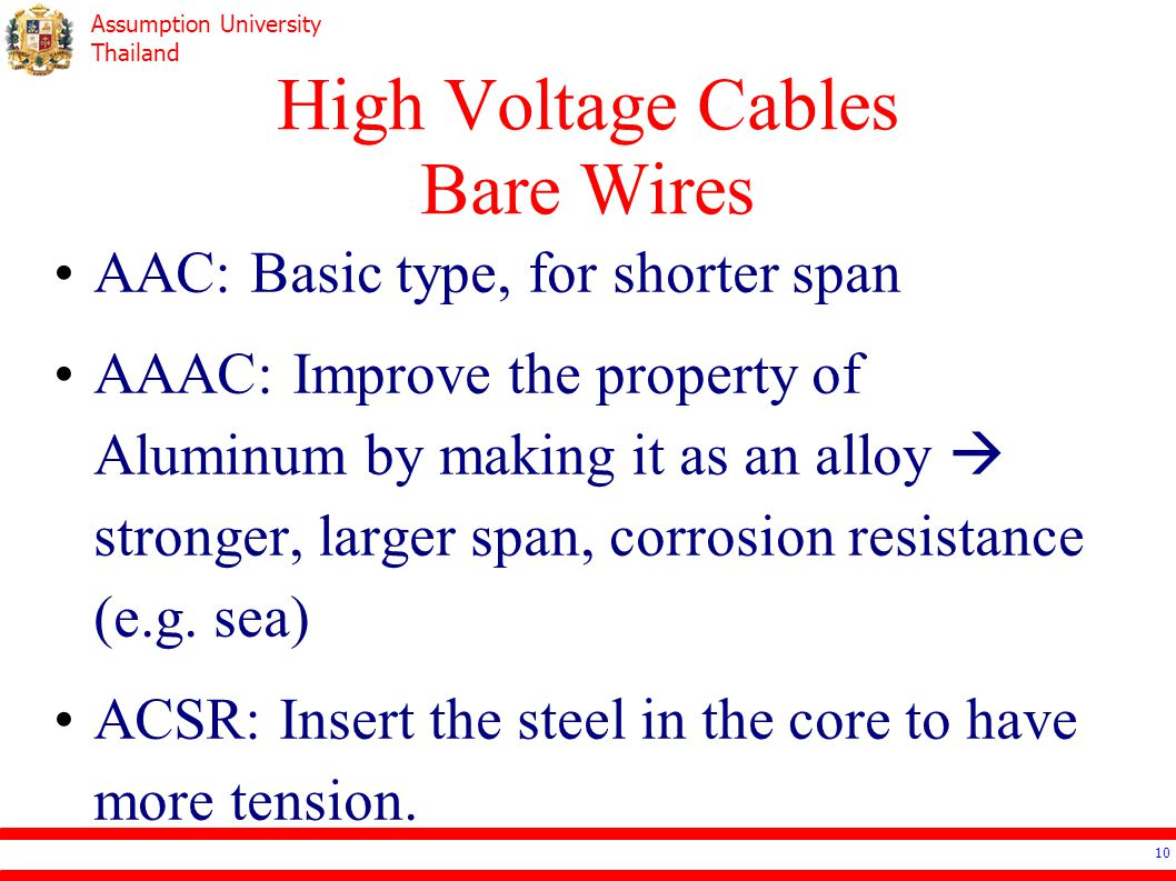 High Voltage Cables Bare Wires
