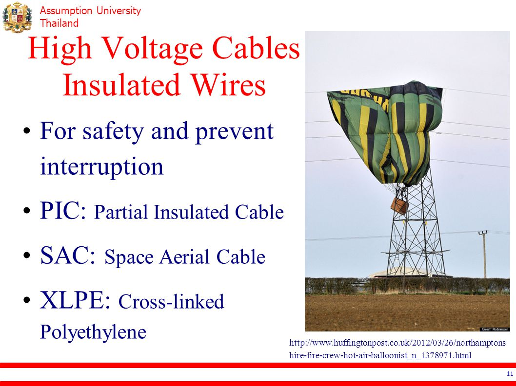 High Voltage Cables Insulated Wires