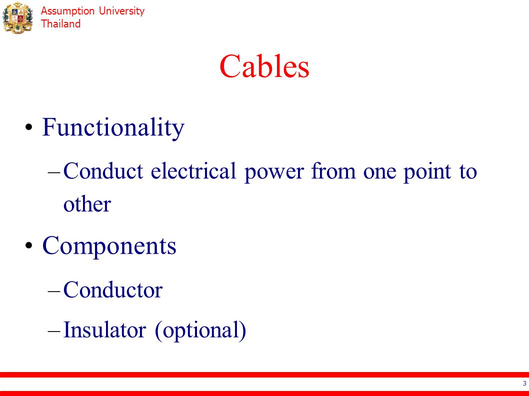 Cables Functionality Components