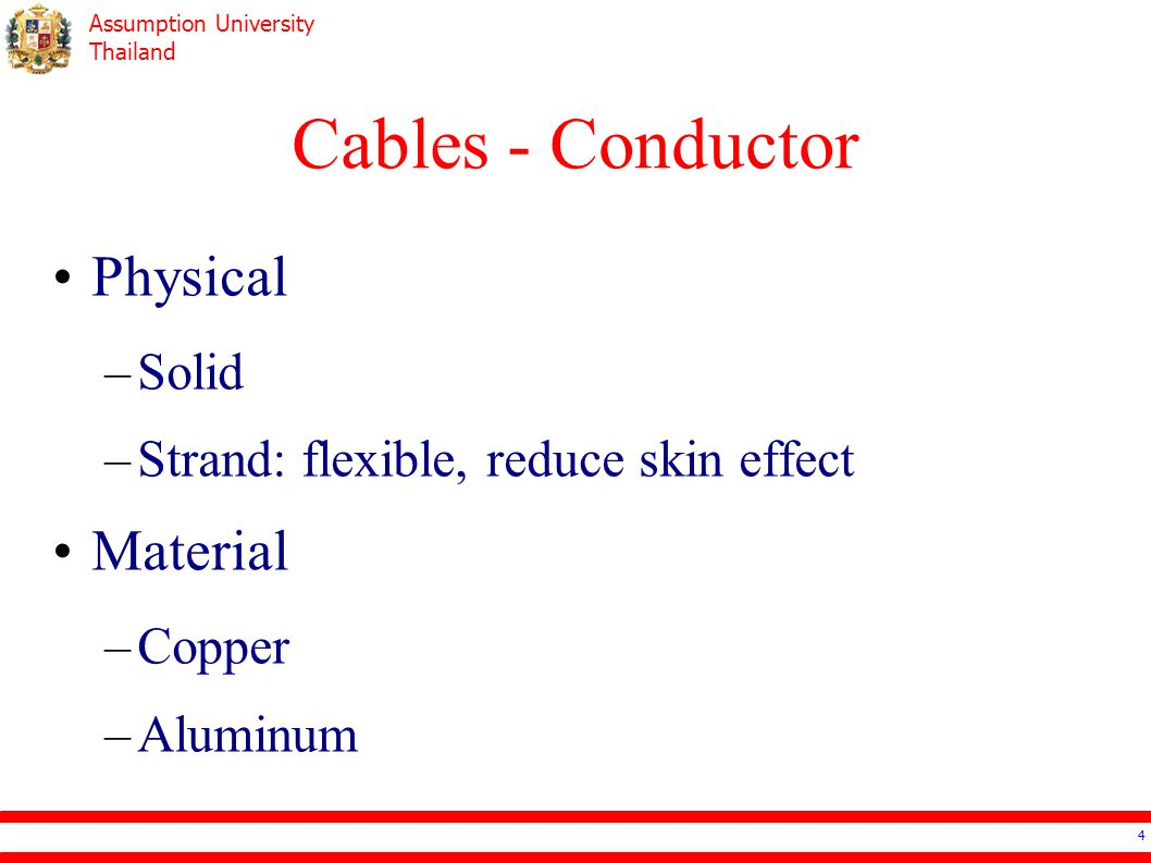 Cables - Conductor Physical Material Solid