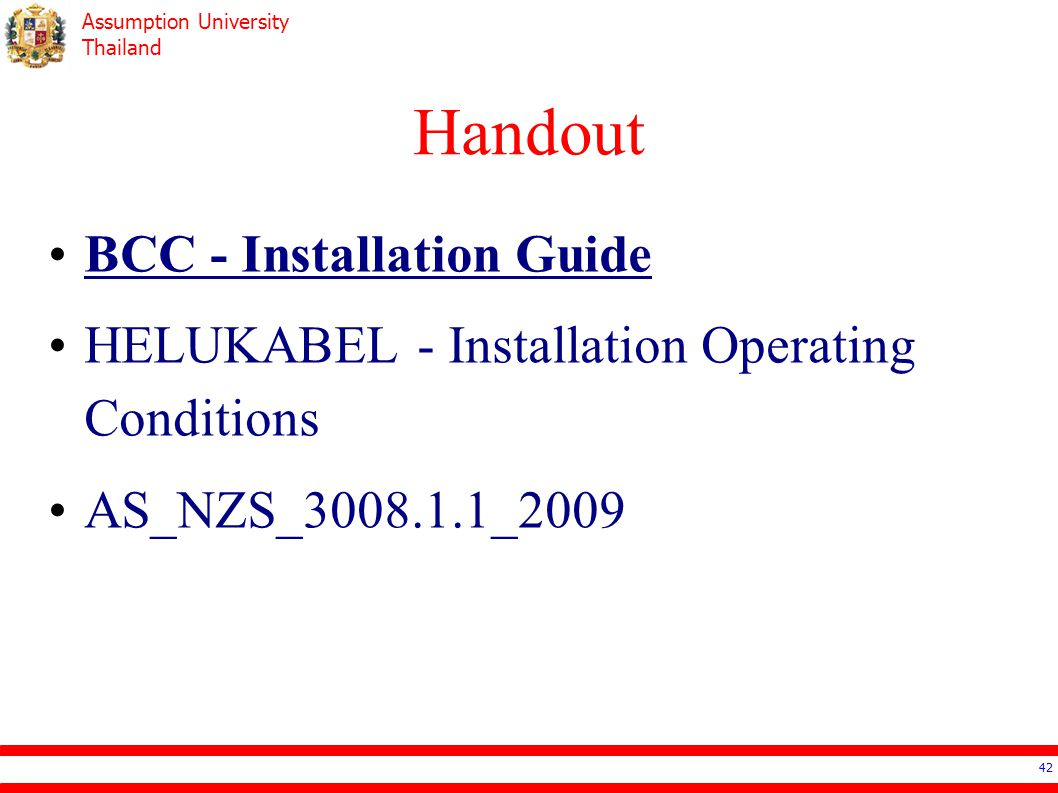 Handout BCC - Installation Guide