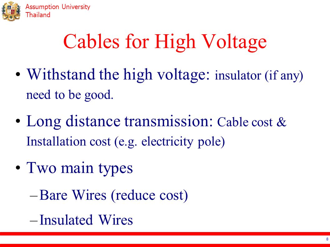 Cables for High Voltage