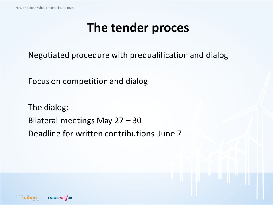 The tender proces
