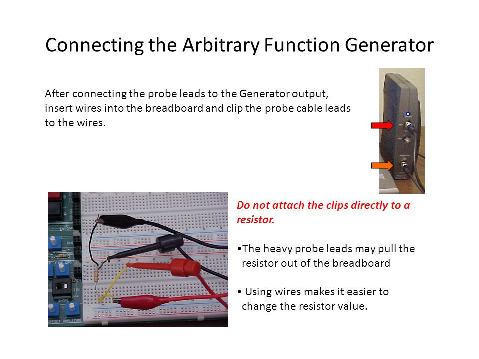 Connecting the Arbitrary Function Generator