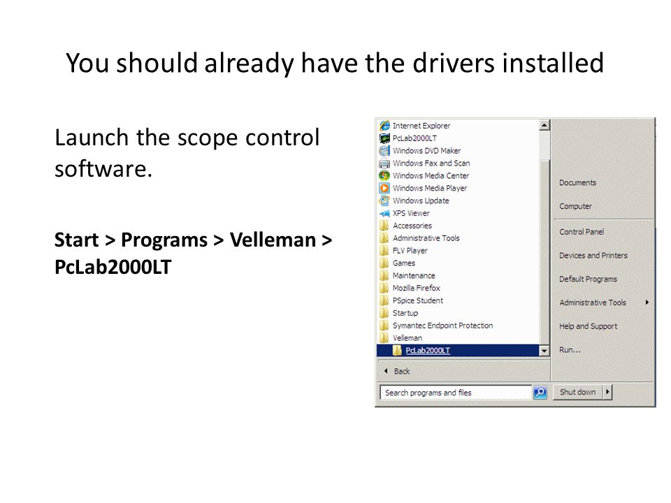 You should already have the drivers installed