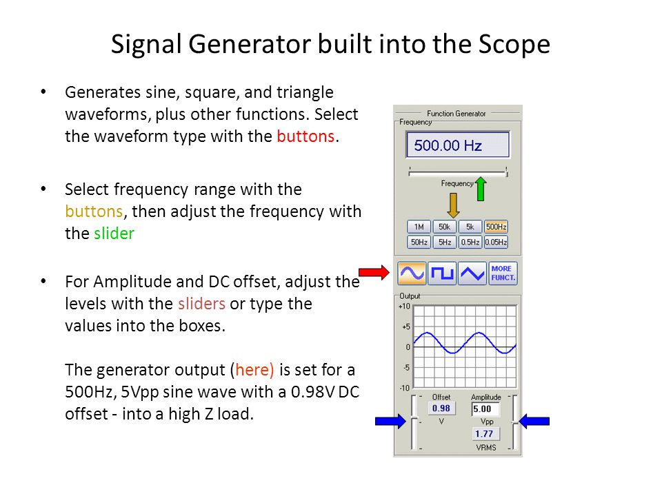 Signal Generator built into the Scope