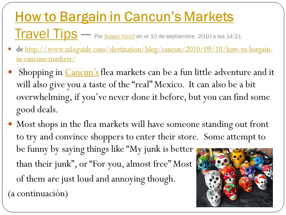 How to Bargain in Cancun's Markets Travel Tips — Por Susan Vincil en el 10 de septiembre, 2010 a las 14:21