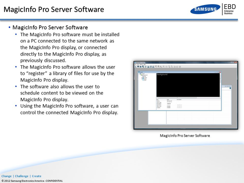 MagicInfo Pro Server Software