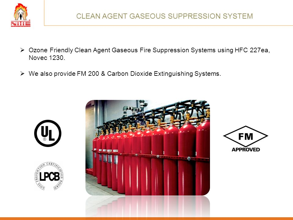 CLEAN AGENT GASEOUS SUPPRESSION SYSTEM