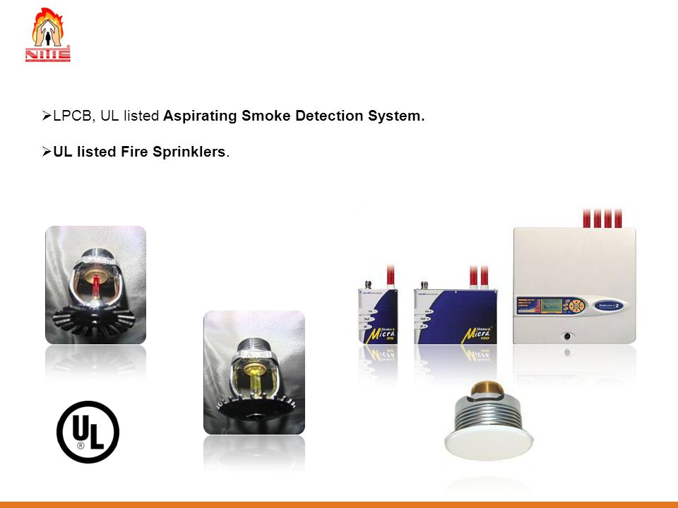 LPCB, UL listed Aspirating Smoke Detection System.