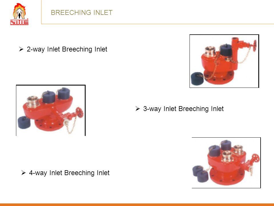 BREECHING INLET 2-way Inlet Breeching Inlet 3-way Inlet Breeching Inlet 4-way Inlet Breeching Inlet