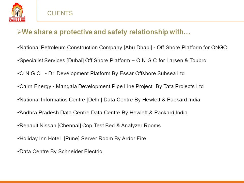 We share a protective and safety relationship with…
