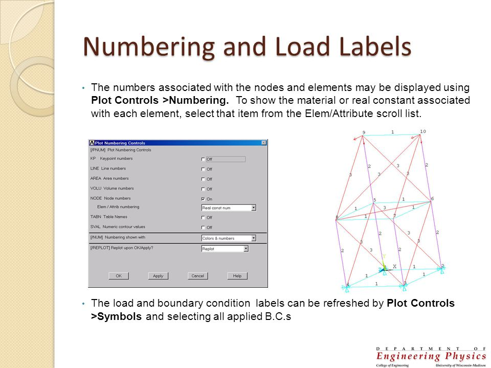 Numbering and Load Labels