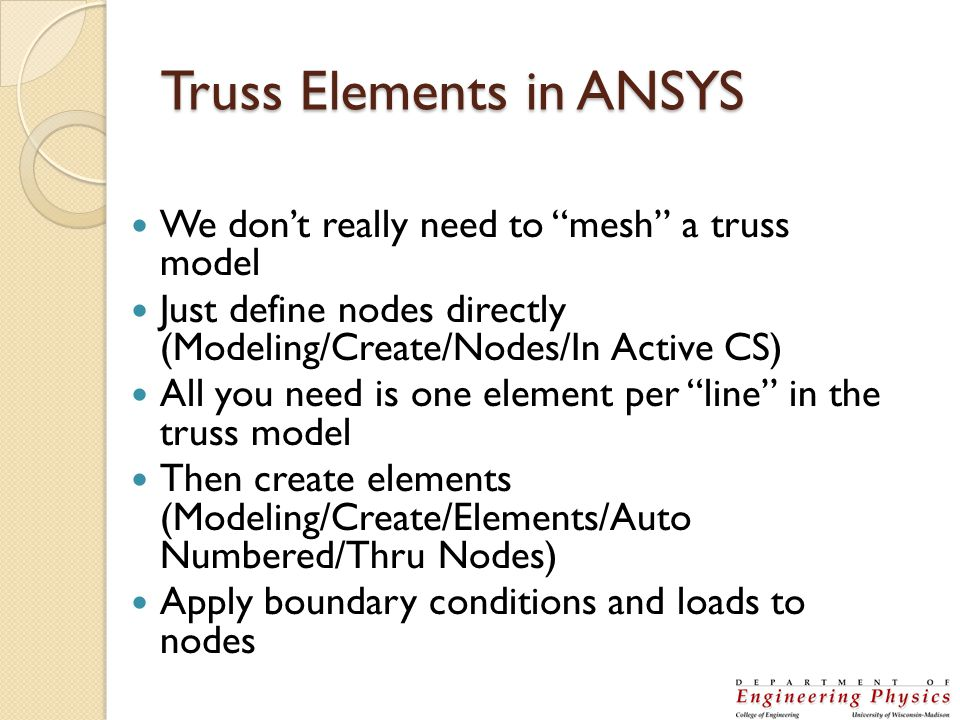 Truss Elements in ANSYS