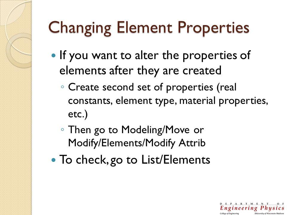 Changing Element Properties