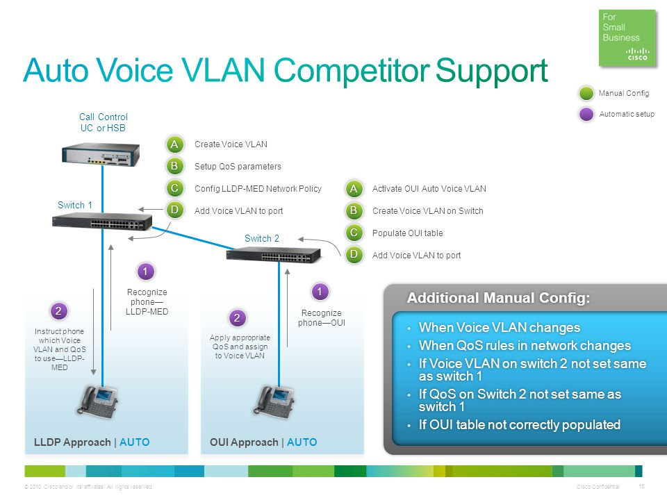 Auto Voice VLAN Competitor Support