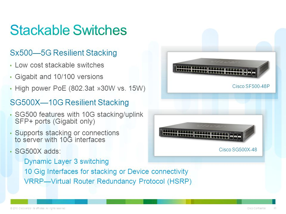 Stackable Switches Sx500—5G Resilient Stacking