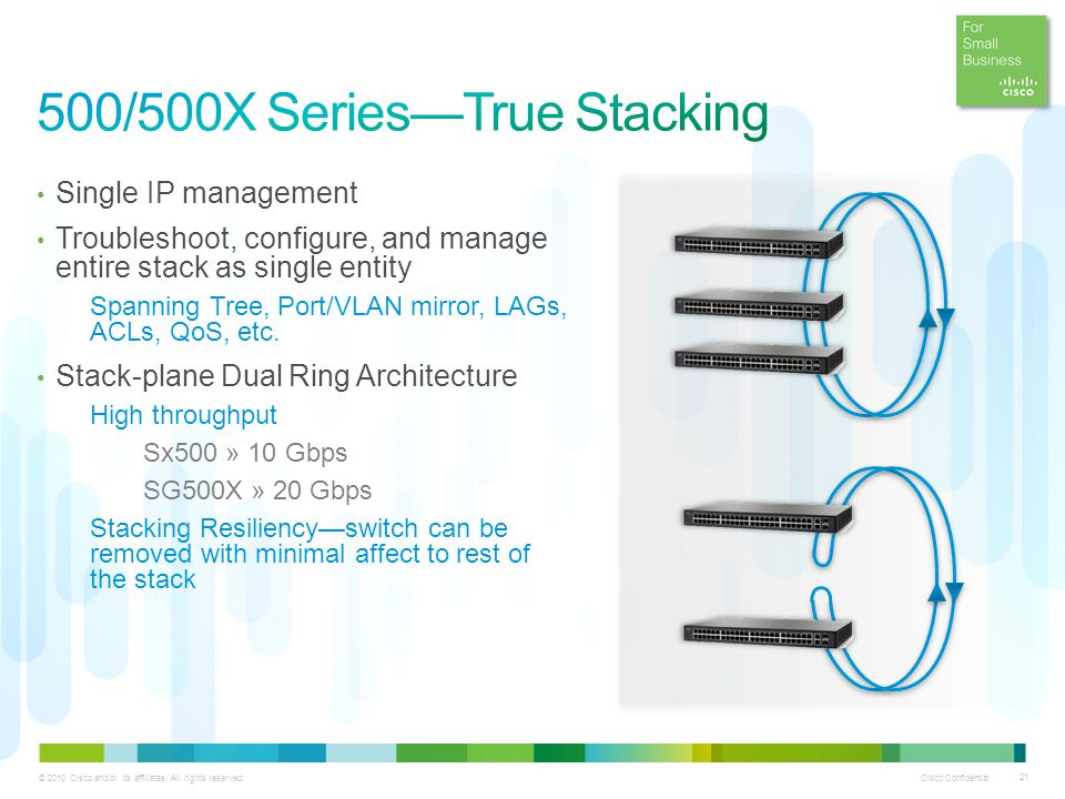 500/500X Series—True Stacking