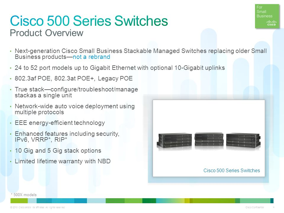 Cisco 500 Series Switches Product Overview