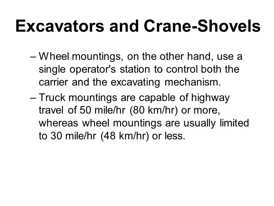 Excavators and Crane-Shovels