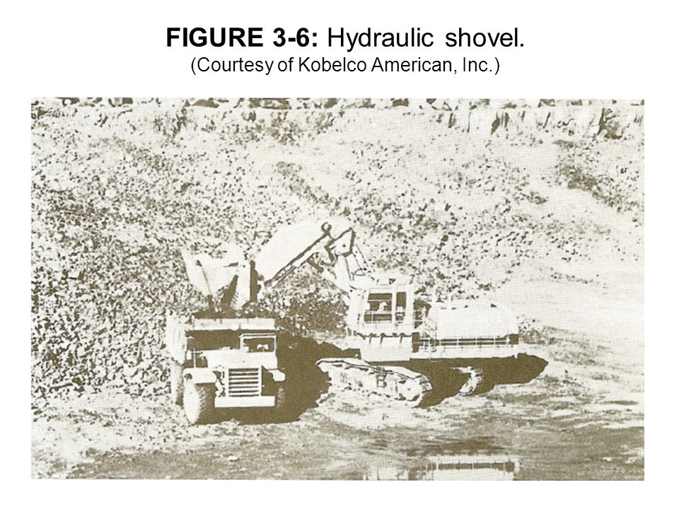 FIGURE 3-6: Hydraulic shovel. (Courtesy of Kobelco American, Inc.)