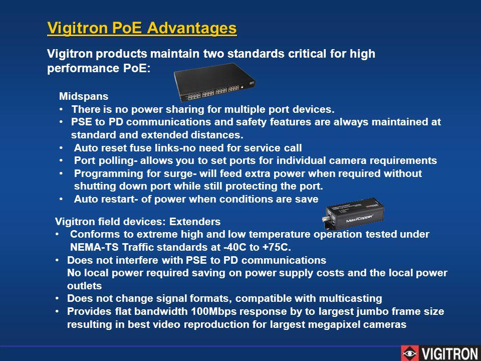 Vigitron PoE Advantages