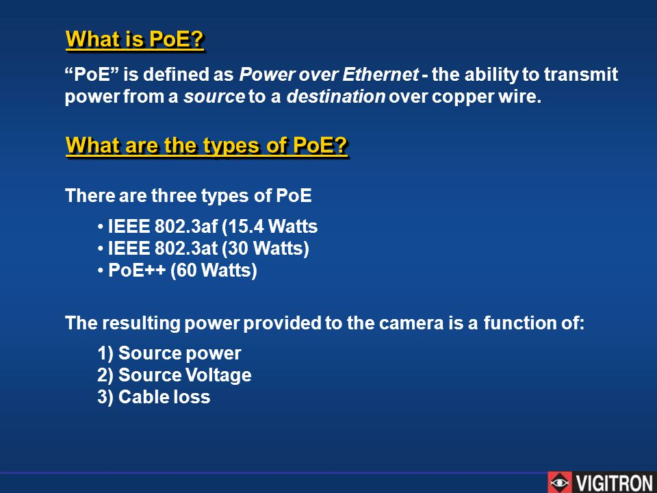 What are the types of PoE