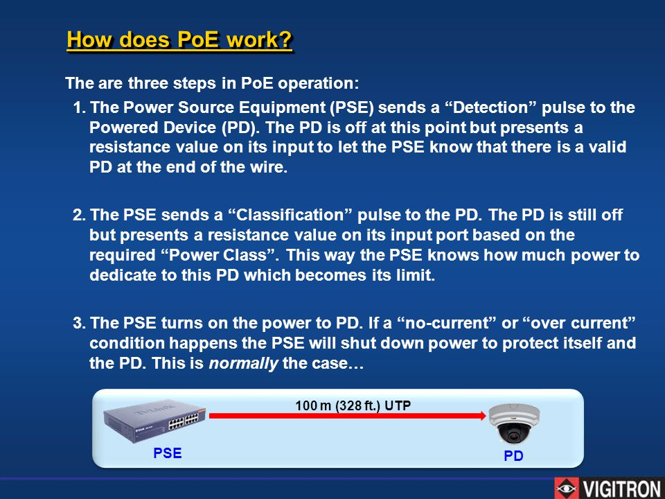 How does PoE work The are three steps in PoE operation: