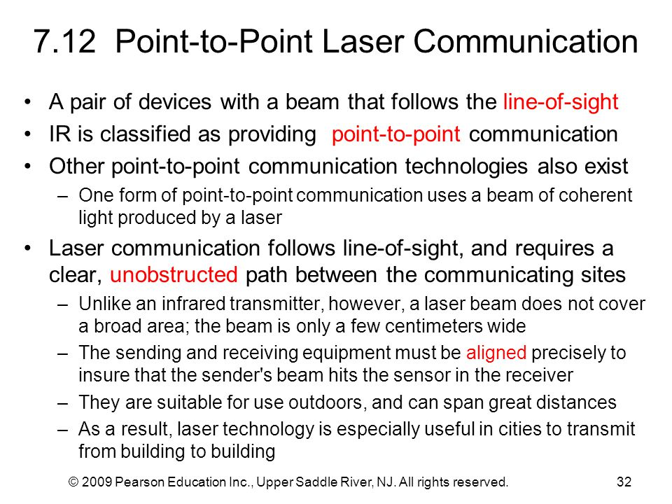 7.12 Point-to-Point Laser Communication