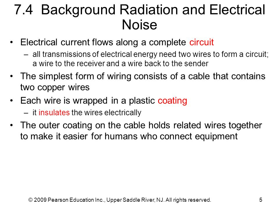 7.4 Background Radiation and Electrical Noise
