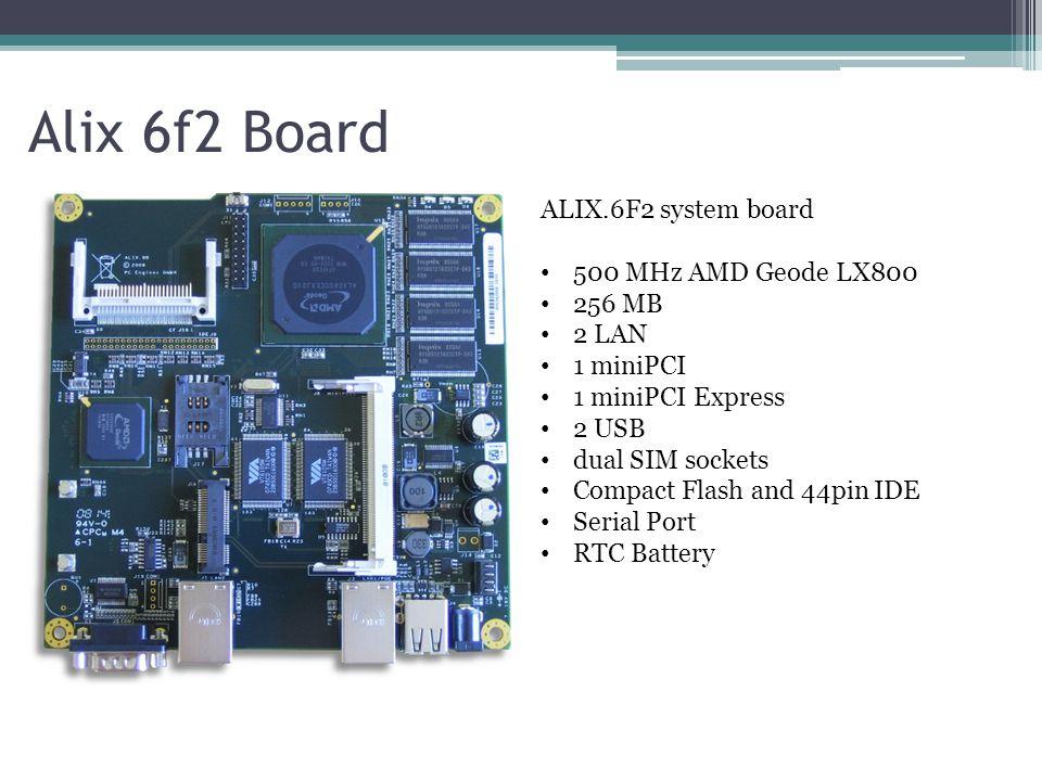 Alix 6f2 Board ALIX.6F2 system board 500 MHz AMD Geode LX800 256 MB