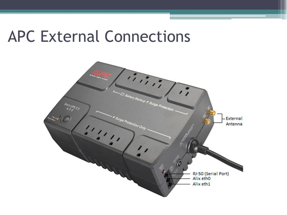 APC External Connections
